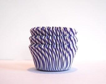 Plum Purple and White Stripe Cupcake Liners (50)