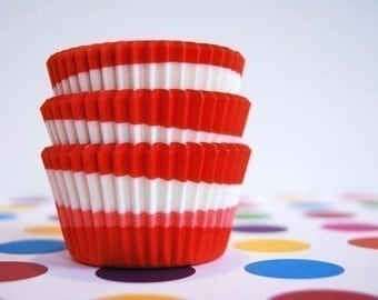 Red and Pink Swirl Cupcake or Muffin liners (50)