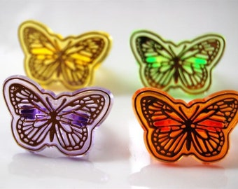 Butterfly Ring Cupcake Toppers/ Favors (12)
