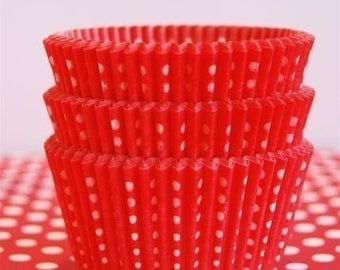Red Dotted Cupcake Liners (50)
