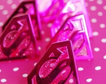 Pink Superman Rings (12)