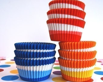 Assorted Swirl Cupcake Liners (45)