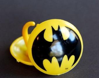 Batman Rings or Cupcake Toppers (12)