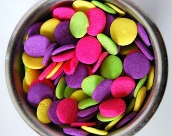 Jumbo Neon Confetti Quins (4 ounces)