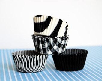 Mini Cupcake Liners 40 Assorted Black