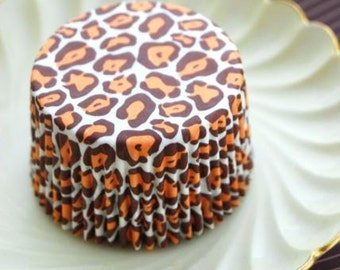 Retro Leopard Print Cupcake Liners (50) Sale