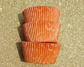 Orange Arabisk  Cupcake Liners (50)