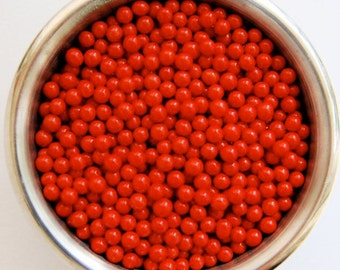 Red Sugar Pearls (2 ounces)