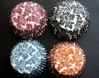 Assorted NEW Damask Cupcake Liners  (40)