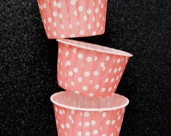 Candy Cups in Light Pink Polka Dots (25)