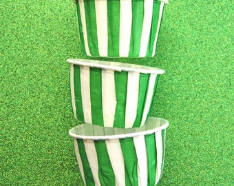 Candy Cups in Green Stripes (25)