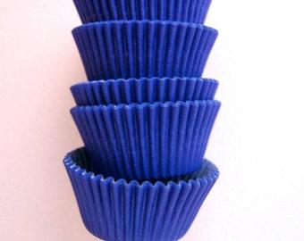 Standard Cupcake Liners 50 Solid Navy Dark Royal Blue