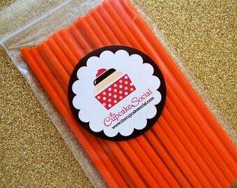Orange Cake Pop Sticks 25 per pack