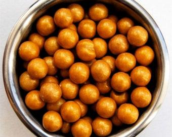Gold Sixlet Sprinkles 8 ounces Jar