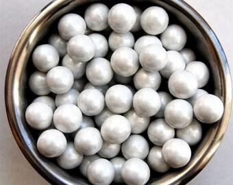Pearl White Sixlet Sprinkles 8 ounces Jar
