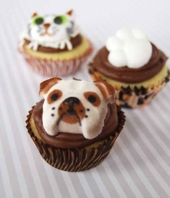 Edible Dog Cake Images : Puppy Dog Edible Cupcake Cake Decorations 10 by CupcakeSocial