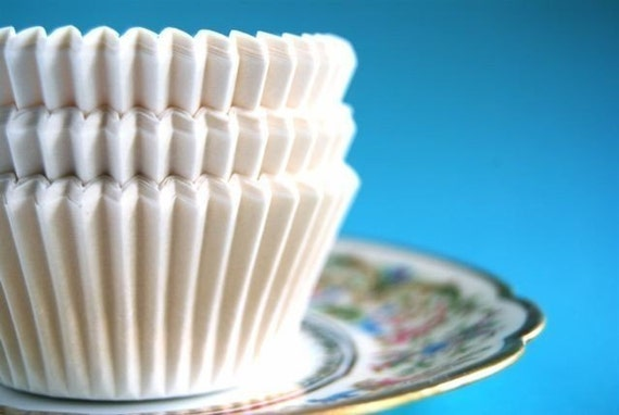 Plain White Cupcake Liners (50)