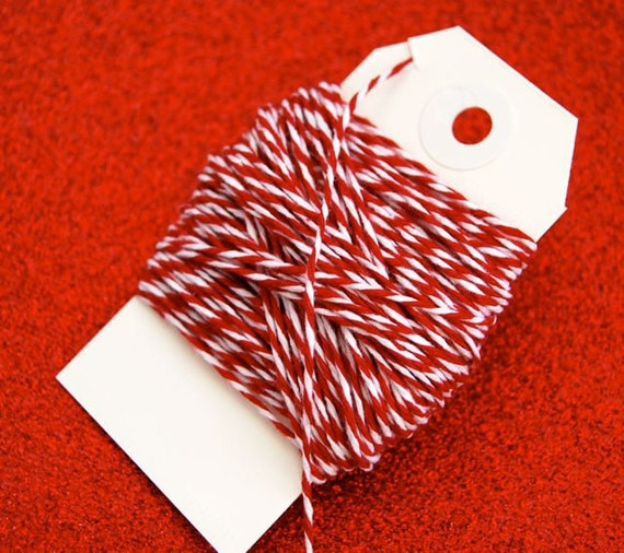 Red and White Twine 15 yards