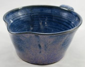 Blue Batter Bowl Stoneware Pottery Reduced