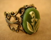 Lily Of The Valley Ring Green