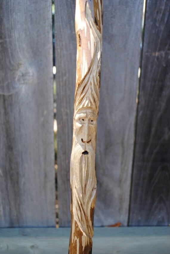 Carved Walking Stick......Ironwood (12-089)  Kiln Dried Hardwood