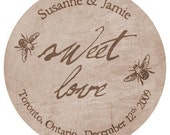 Sweet Love - Bridal Label, Address Label, Shop Labels, Gift Tag