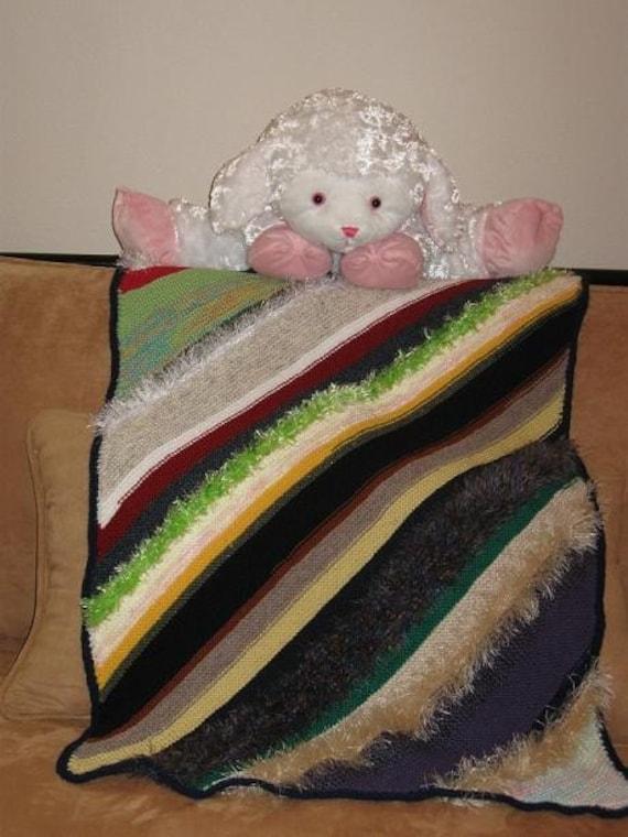 Crazygan Baby or Child Afghan Knitting Pattern - KWDD-001