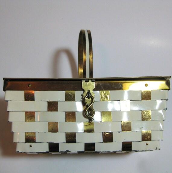Dorset Rex Metal Basketweave Handbag on Sale