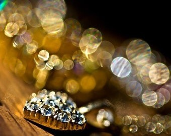 Romantic Photography abstract Gold golden photograph citrine mustard wall art home decor for her women sparkles sparkly circles photo black
