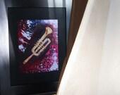 Musician Digital Art Print Instrument Jazz Trumpet Archival