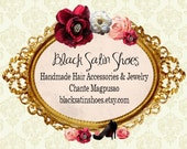 RESERVED FOR Black Satin Shoes - Business Cards