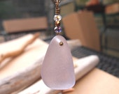 Lavender Sea Glass Necklace - Beach Bombshell