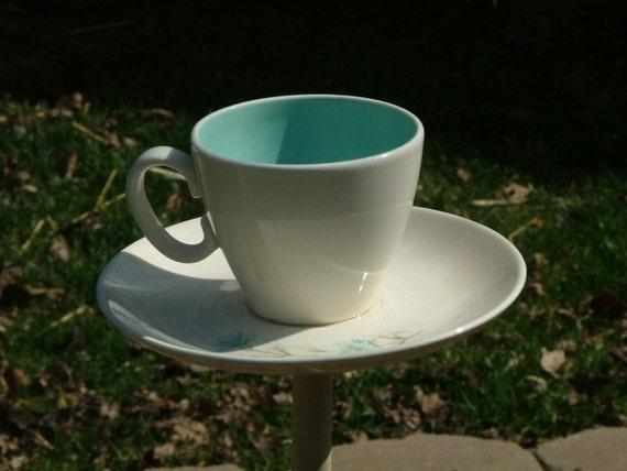 Repurposed Tea Cup Bird Feeder