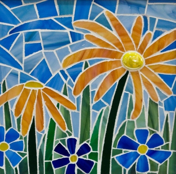 Flowers Glass Mosaic