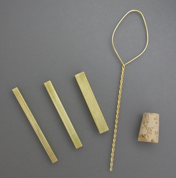 Metal Clay Tools - Micro Squares - Clay tools - 3 piece set