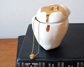 Apple Trinket Box with 14k Gold luster