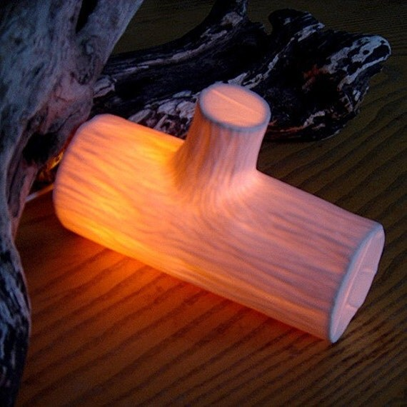 SALE - Wood Log Lamp