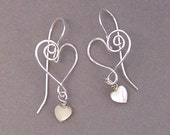 Artisan Silver Heart Earrings