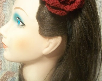 Rose Headband  - One Size fits 3T Child Teen Adult Small