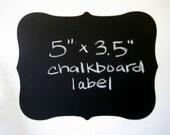 6 Chalk Labels® Large Fancy Style Chalkboard Labels, Chalkboard Stickers- 5 inches
