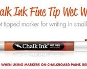 White Chalk Ink Chalk Marker 1.0 Fine Tip, Chalk Pen, Chalkboard Marker White