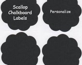 Chalk Labels(tm) Small Scalloped Edge Chalkboard Labels - Set of 12