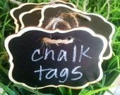 Wood Chalk Tags with Chalkboard Labels- GRACE Style - set of 12 - Basket Labels, Chalkboard Tags, Wedding Chalkboards, Rustic Wedding