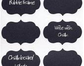 Teenie Bubble Frame Chalkboard Labels - Set of 36 - DIY chalkboard wine glasses