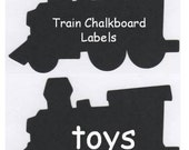 Train Chalkboard Vinyl Labels - Organize and Personalize with Chalk Labels