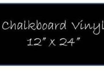 Chalkboard Vinyl 12 x 24 Sheet - DIY Chalkboard Labels, Blackboard Vinyl, Self Adhesive Chalkboard, Peel and Stick Chalkboard Surface