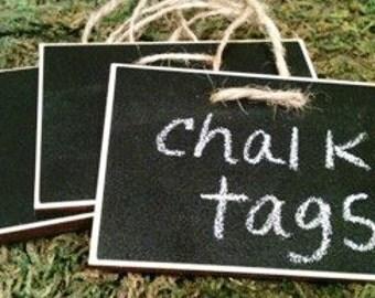 Rectangle Wood Chalkboard Labels - set of 4 - Basket Labels, Chalkboard Tags, Wedding Chalkboards, Rustic Wedding