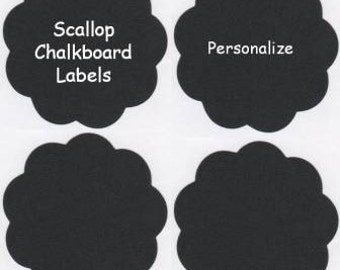 Chalk Labels(tm) Small Scalloped Edge Chalkboard Labels - 9 - 3.5 inches
