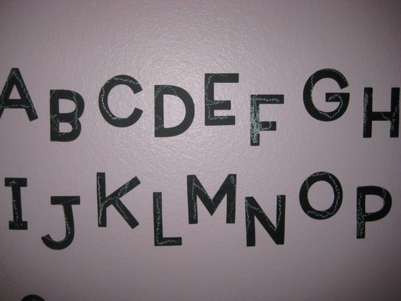 Chalkboard Vinyl Alphabet -  You Choose the Font