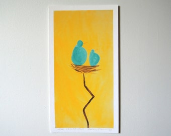 Giclee Print - Ms. O and Little E - Limited Edition - Archival Print - Ready to Frame